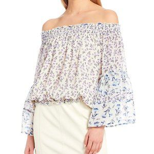 Free People Rose Valley Off-The-Shoulder Blouse